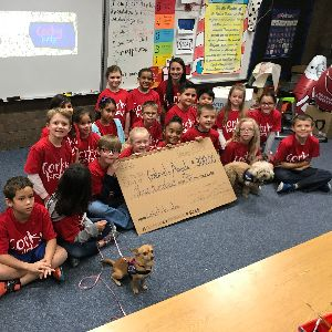 Second grade student-run business CorkyKidz donates to Gabriel's Angels