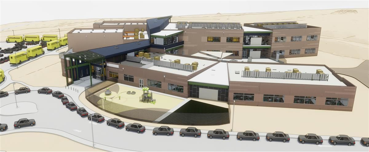 Rendering on New K-8 CSTEM School