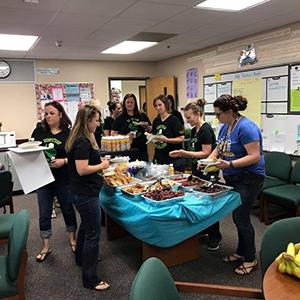 Teachers & Staff at Estes Elementary Treated to Breakfast