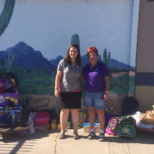 Roadrunner Elementary Students Get School Supply Donation!
