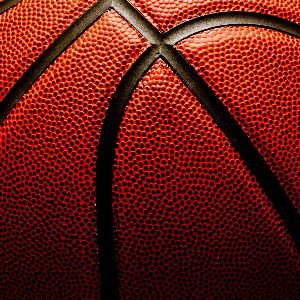IMAGE: Close up view of a basketball.