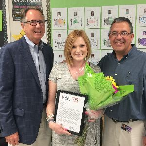 CTE Kindergarten Teacher Honored by  Tucson Values Teachers & Office Depot/Max!