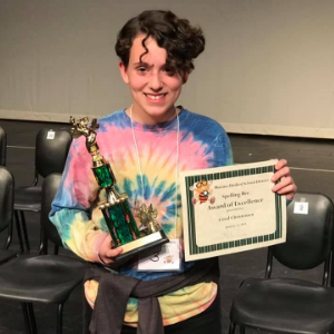 IMAGE: Coral Christensen Earns 3rd Place in 2019 District Spelling Bee.