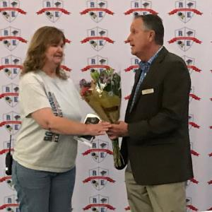 IMAGE: Mary Butler, SUpport Staff of the Year with Superintendent Dr. WIlson.
