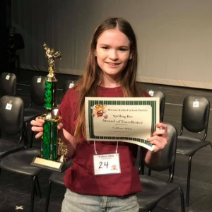 IMAGE: Colleen Allen: 2019 District Spelling Bee Champion!