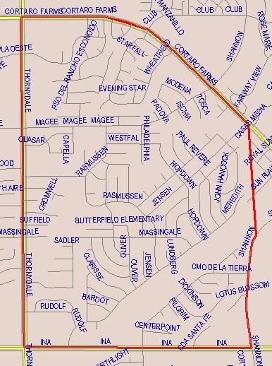 Butterfiled Elementary Boundaries Map