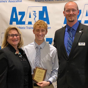 IMAGE: Hunter Holt with 2020 Lanny Williams Scholarship Award.