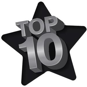 IMAGE: Black & Grey Top 10 with a star in the background