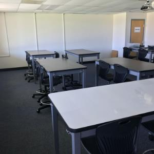 IMAGE: MCAT Renovation with student desks and learning areas.