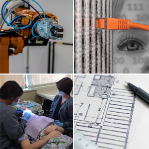 IMAGE: Robotics, Construction, Computer Networking and Dental Programs.
