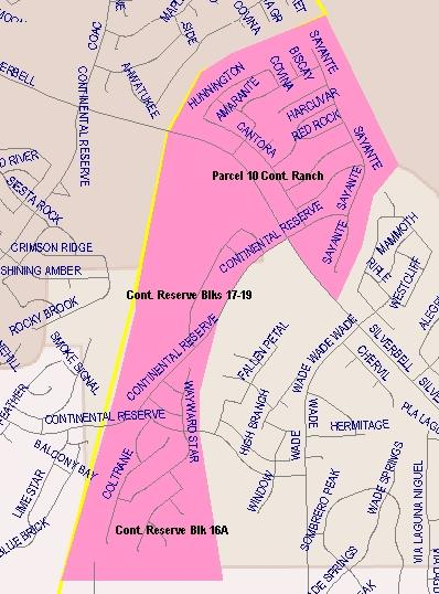 Coyote Trail Elementary Boundaries Map #1  (Written description available on this page)