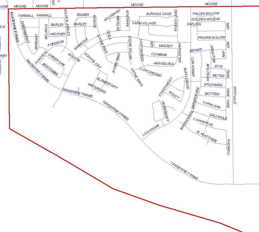 Gladden Farms Elementary Boundaries Map (Written description available on this page)