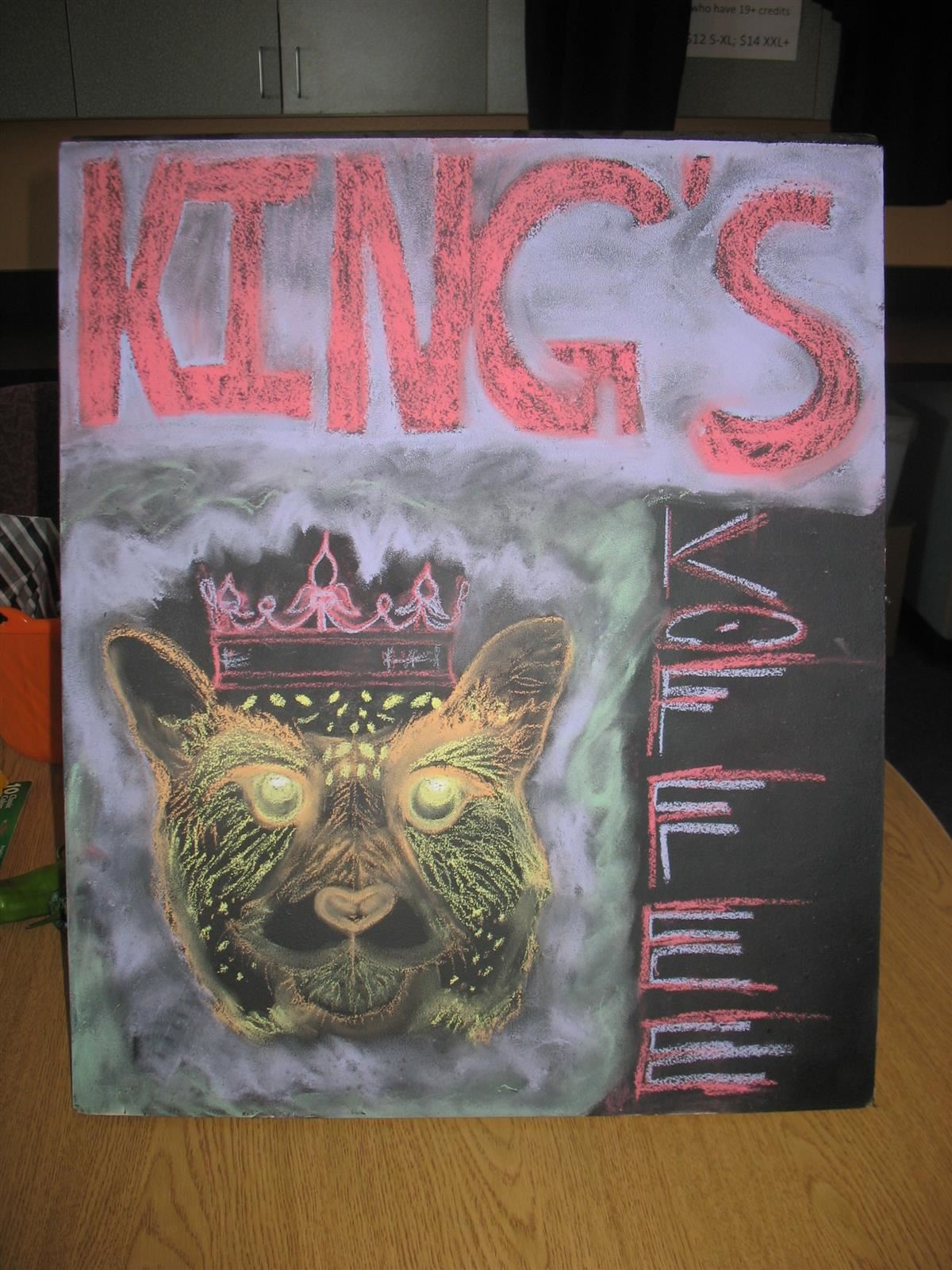 King's Coffee Signage with Logo