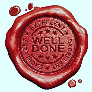 IMAGE:  Well Done Stamp