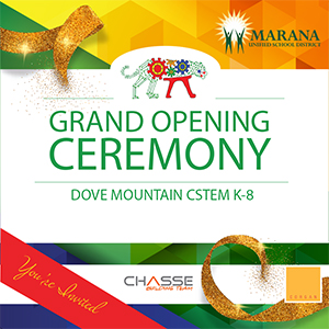 IMAGE: Grand Opening invitation with ribbon.