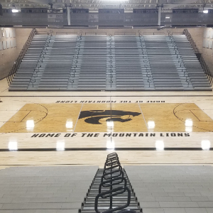 IMAGE:  MVHS New Gym Floor and Lighting System