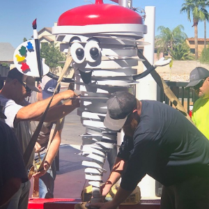 IMAGE: Installation of the Dusty the Dust Devil Mascot Welded Sculpture