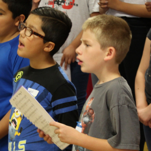 IMAGE: Students singing.