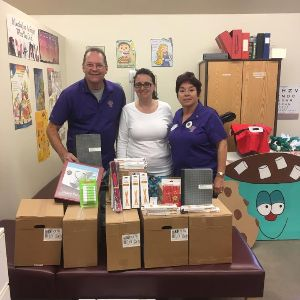 Marana Host Lions Club Contribute to Education!