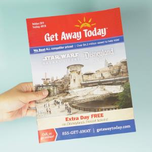 IMAGE: Most recent edition of Get Away Today Magazine.