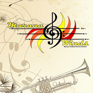 IMAGE: Marana Winds Logo with musical notes and a trumpet.