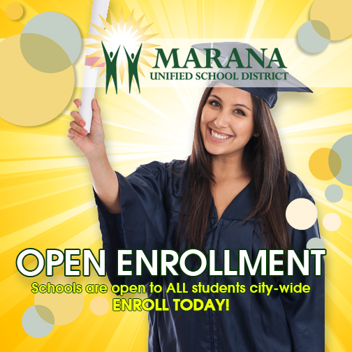 Open Enrollment: Schools are open to all students city-wide. Enroll today.(Graduate holding diploma)