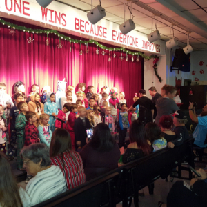 IMAGE: 2nd grade Bobcats perform Polar Express