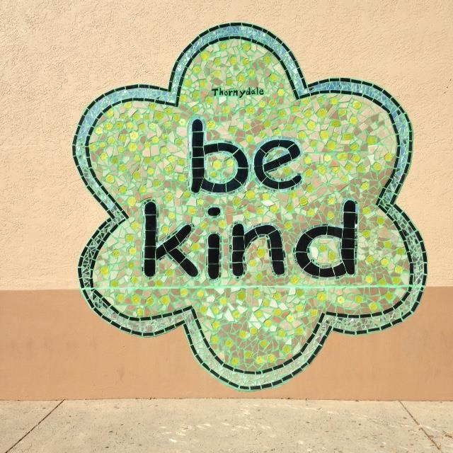 Be Kind Mural on Thornydale Campus