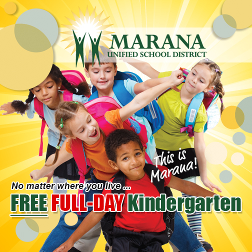 IMAGE: Kids excited about free full-day kindergarten.
