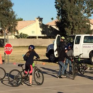 4th Grade CTE Students Participate  In The Pima County Bike Safety Program