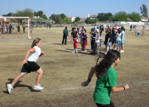 Students active during Field Day