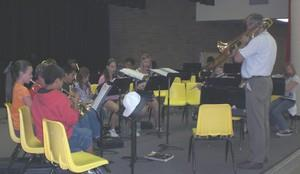 Orchestra during a performace
