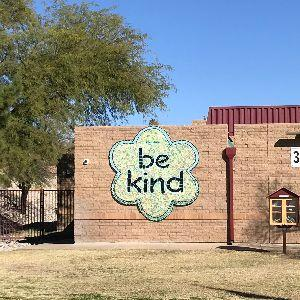 Cloverleaf Be Kind Mural at Butterfield