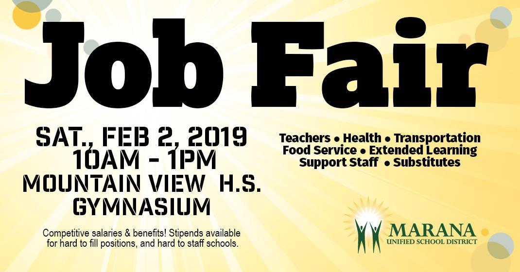 job fair feb 2 2019 10am 1pm