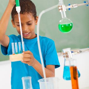 Child with Beakers/STEM Learning